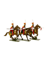 0704 Toy Soldiers Set Dutch Lancers Three Lancers, of the Imperial Guard Painted