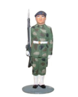 AL54 14 T.S. Private Guard in battle dress Painted