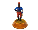 ToL 491 - Lieutenant Chasseurs d' Afrique c.1875  French Colonial Troops c 1935 Painted on wooden base