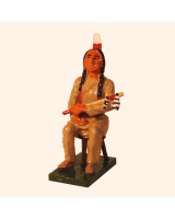 1202 Toy Soldier Set Sitting Bull seated Painted