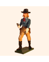 1203 Toy Soldier Set George Armstrong Custer in action Painted