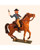 1204 Toy Soldier Set George Armstrong Custer in action Mounted Painted