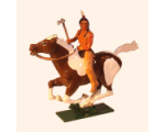 1205-1 Toy Soldier Set Mounted Indian with axe in action Kit