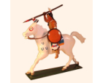 1205-2 Toy Soldier Set Mounted Indian with Spear in action Kit