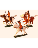 1205 Toy Soldier Set Mounted Indians in action Painted
