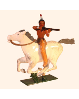1206-2 Toy Soldier Mounted Indian firing with rifle Kit
