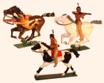 1206 Toy Soldier Set Mounted Indians with bow and rifles Painted