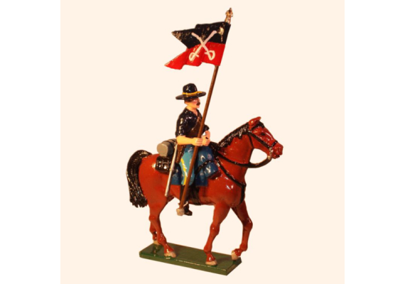 1208-2 Toy Soldier Trooper with Guidon 7th Cavalry Regiment Kit