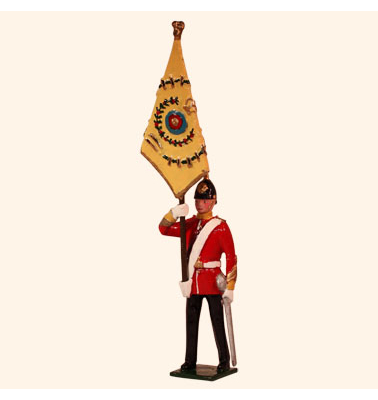 026 2 Toy Soldier Officer with Regimental Colour Kit