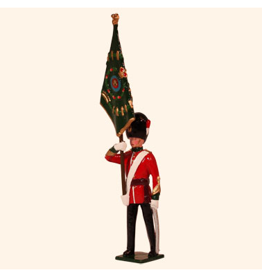027 2 Toy Soldier Officer with Regimental Colour Kit