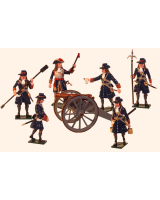 0304 Toy Soldiers Set Artillery of the Marlborough Era Painted