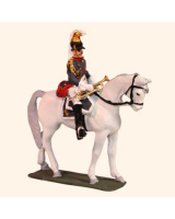 E 126 Cuirassier Trumpeter 1815 30mm Willie Mounted Kit