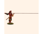 M 01b Pikeman Charging your Pike 30mm Willie Foot Painted