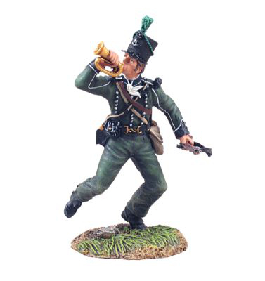 36045 British 95th Rifles Bugler Advancing No.1