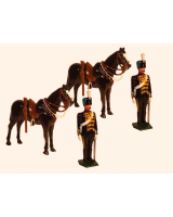 036a Toy Soldiers Set Two Troopers at attention with their Horses Painted