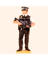 0568 Toy Soldier Set Police Officer Armed Painted