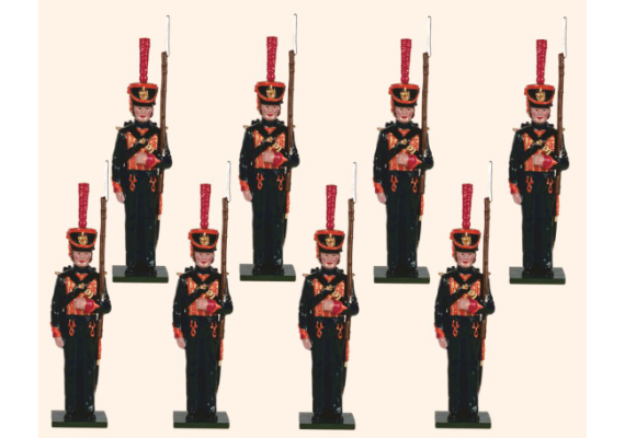 721 Toy Soldiers Set Eight French Marines Painted