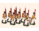 728 Toy Soldiers Set The Neuchatl Battalion 1812 Painted