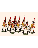 0728 Toy Soldiers Set The Neuchatl Battalion 1812 Painted