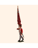 0764 2 Toy Soldier Ensign with Kings colour Kit