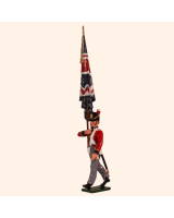 0764 3 Toy Soldier Ensign with Regimental colour Kit