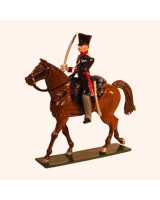 0778 1 Toy Soldier Officer Mounted with drawn sword Landwehr Cavalry Kit
