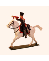 780-3 Toy Soldier Trumpeter Landwehr Prussian Dragoons Napoleonic War Kit