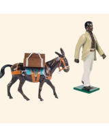 0091 08 Toy Soldier Pack Mule with Handler The Boer War Kit