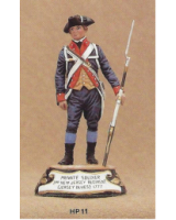 No.011 - Private Soldier 3rd New Jersey Regiment Jersey Blues 1777 Kit/ Unpainted