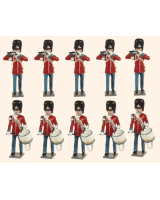 D5A Toy Soldiers Set The Danish Royal Guard Fifes and Drum Painted