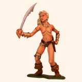 F54 04 Barbarian Female with Sword Painted