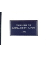 No 05A Uniforms of the Imperial German Cavalry c 1892 Booklets