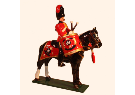 M103 Toy Soldier Kettledrummer, Royal Scots Greys The 2nd Dragoons 1900 Kit