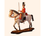 M90 06 Trooper The Scots Greys 2nd North British Dragoons 1815 - 90mm Painted in Gloss