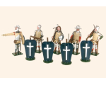 MS1 Toy Soldiers Set French Crossbowmen The Battle of Agincourt Painted