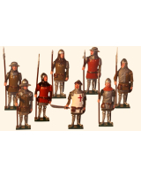 MS3 Toy Soldier Set English Men at Arms Painted