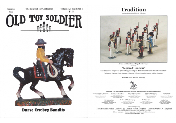 Old Toy Soldier Magazine 2003 Volume 27 Number 1 Durso Cowboy Bandits