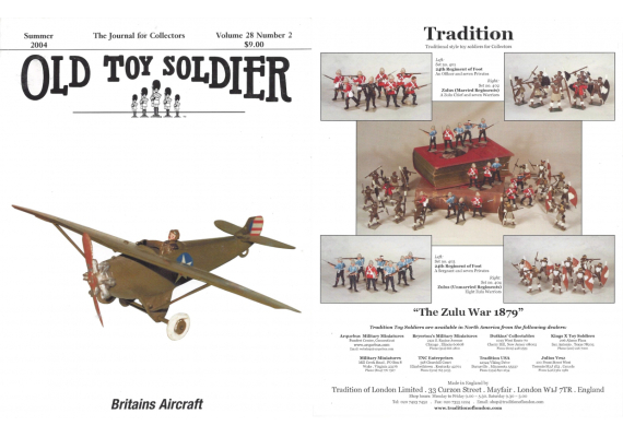 Old Toy Soldier Magazine 2004 Volume 28 Number 2 Britains Aircraft