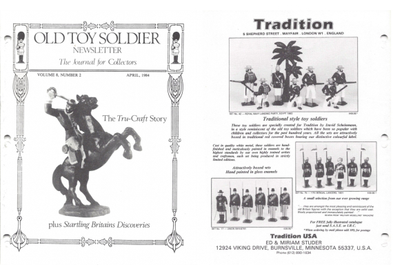 Old Toy Soldier Newsletter 1984 Volume 8 Number 2 The Tru-Craft Story