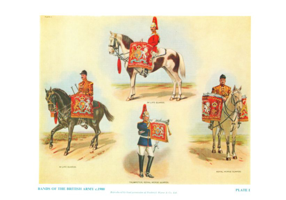Plate No.001 Bands of The British Army c.1900