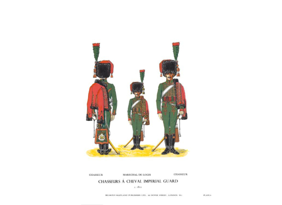 Plate No.006 Chasseurs À Cheval Imperial Guard c.1810