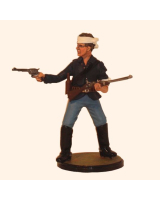 Sqn80 112  Trooper Wounded and firing 7th. U.S. Cavalry 1876 Painted