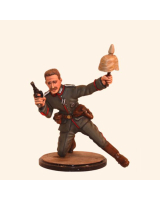 Sqn80 009 Officer German Line Infantry 1914, crouching position WW1 Kit