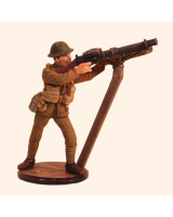 Sqn80 022 British Private 1916 firing A.A. Lewis Gun WW1 Painted