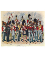 Plate ToL No.010 British Soldiers - Past and Present by R. Simkin
