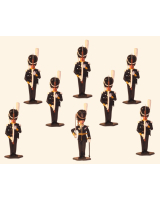 1020 Toy Soldier Set Officer with Grenadiers - Grenadier Regiment Svea Life Guard I1 Painted
