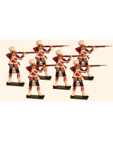 1100 Toy Soldiers Set 42nd Highlander Standing Firing Painted