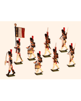 768 Toy Soldiers Set French Grenadiers of the Guard, Head of Column Painted