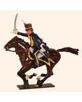 0760 2 Toy Soldier Sergeant 7th Queens Own Hussars Kit