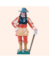 0510 Toy Soldier Set Officer of the Royalist Foot Painted